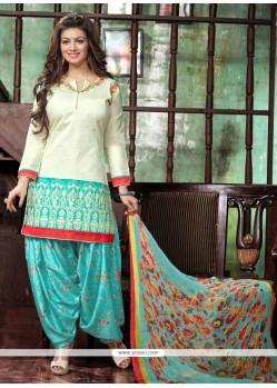 Capricious Cream Designer Patila Salwar Suit
