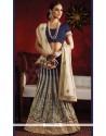Desirable Raw Silk Zari Work Lehenga Saree