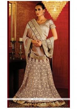 Dignified Embroidered Work Lehenga Saree