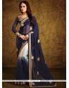 Alluring Georgette Blue Designer Saree