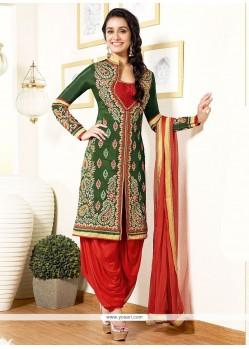 Shraddha Kapoor Sea Green Georgette Punjabi Suit