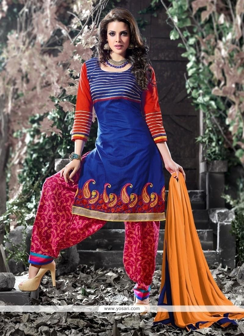 Riveting Chanderi Designer Salwar Suit