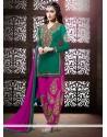 Shraddha Kapoor Teal Georgette Patiala Suit