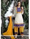 Aesthetic Off White Cotton Designer Salwar Suit