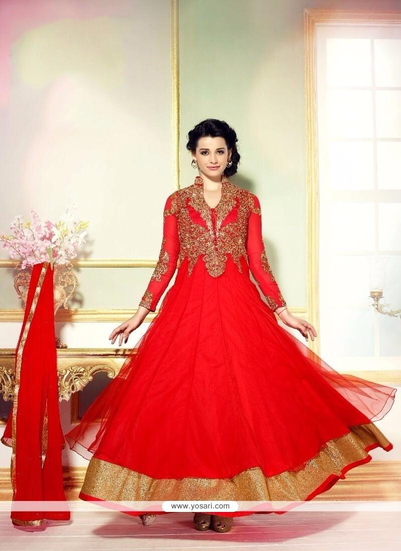Irresistible Georgette Anarkali Salwar Suit