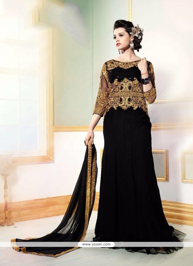 Sonorous Embroidered Work Georgette Floor Length Anarkali Salwar Suit