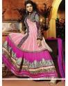 Noble Zari Work Hot Pink Anarkali Salwar Suit