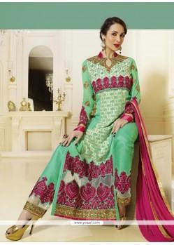 Malaika Arora Khan Georgette Designer Straight Salwar Kameez
