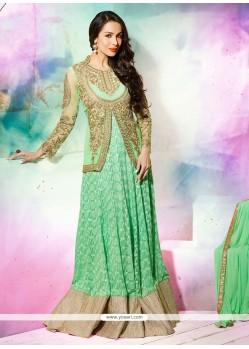 Malaika Arora Khan Green Georgette Designer Salwar Suit