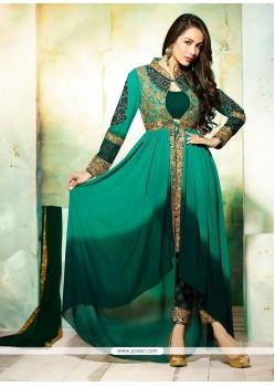 Malaika Arora Khan Georgette Embroidered Work Designer Salwar Suit