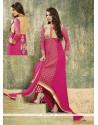 Amazing Resham Work Pink Georgette Designer Salwar Suit