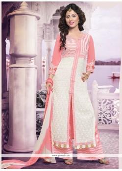 Elegant White Designer Palazzo Salwar Suit