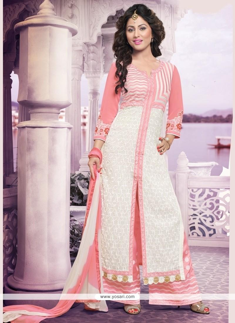 f9be716745 Shop online Elegant White Designer Palazzo Salwar Suit