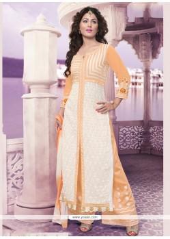Praiseworthy Georgette Embroidered Work Designer Palazzo Salwar Suit