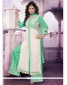 Refreshing Georgette Embroidered Work Designer Palazzo Salwar Suit