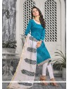 Charismatic Print Work Churidar Designer Suit