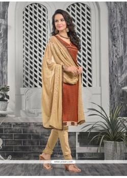 Floral Bhagalpuri Silk Print Work Churidar Designer Suit