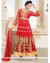 Fabulous Red Anarkali Salwar Suit