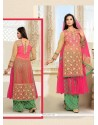 Flamboyant Zari Work Designer Palazzo Salwar Suit
