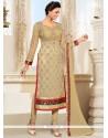 Flamboyant Lace Work Churidar Salwar Kameez