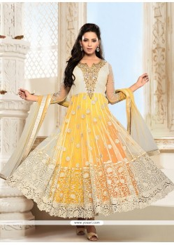 Incredible Net Resham Work Anarkali Suit