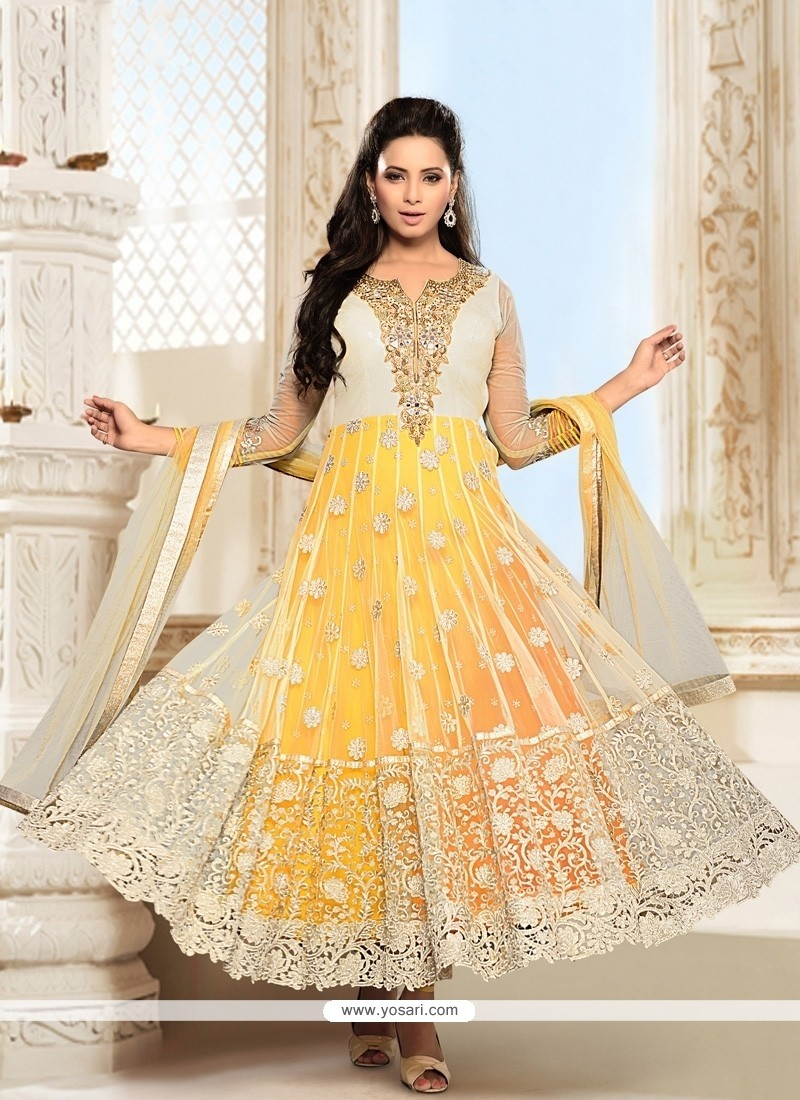 Incredible Net Resham Work Anarkali Suit