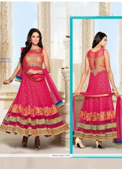 Tempting Net Anarkali Salwar Suit