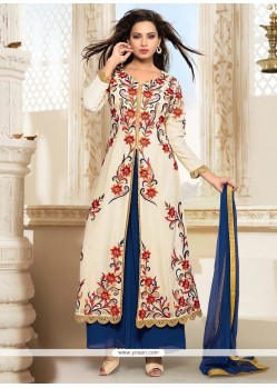 Sorcerous Cream Embroidered Work Designer Salwar Suit
