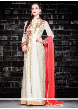Fetching Georgette Embroidered Work Designer Salwar Suit