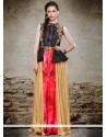 Impressive Resham Work Multi Colour Designer Salwar Suit