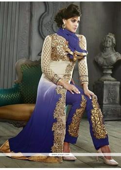 Deserving Blue Georgette Salwar Suit