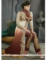 Decent Brown Shaded Resham Pakistani Suit