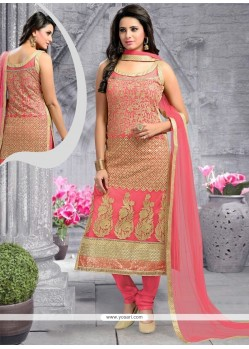 Stupendous Net Embroidered Work Designer Suit