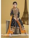 Intriguing Lace Work Velvet Designer Pakistani Salwar Suit