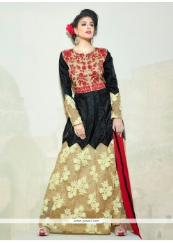 Strange Black Anarkali Suit