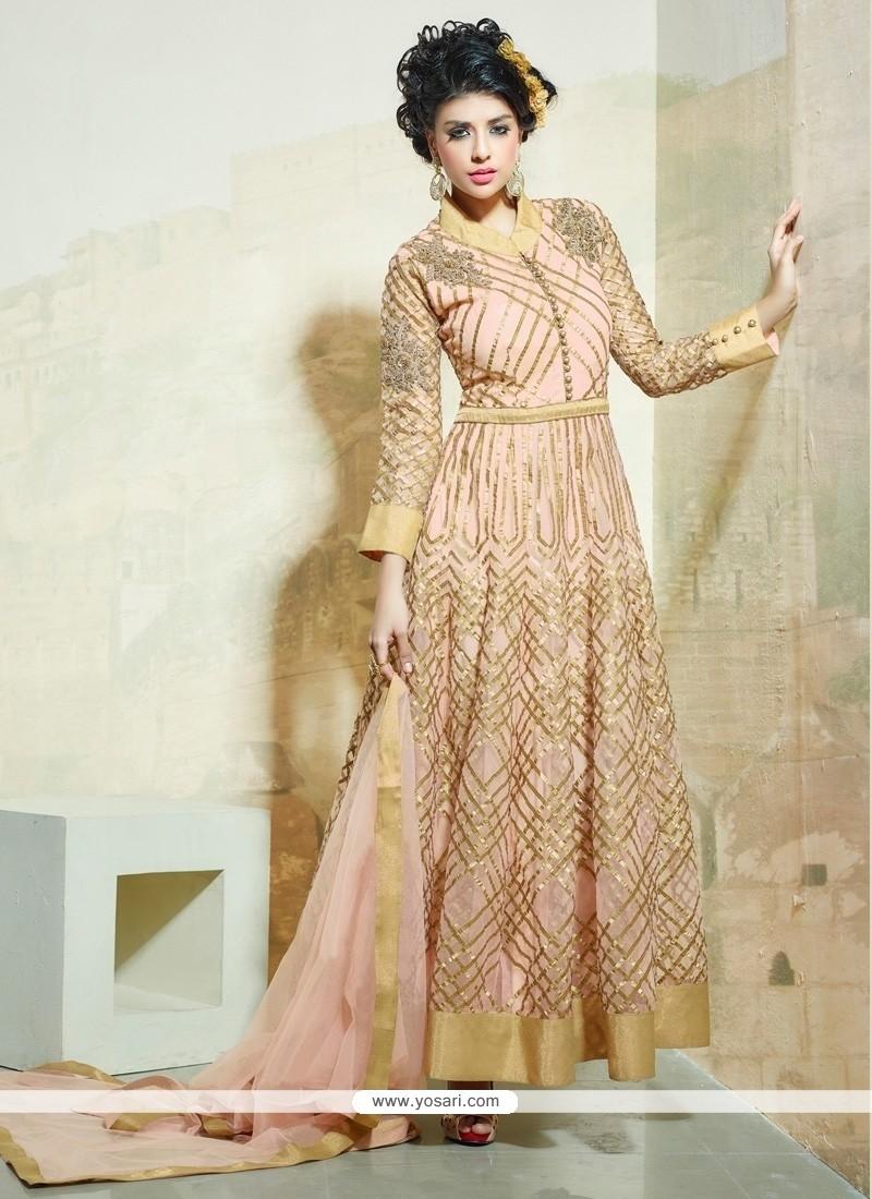 Bewitching Resham Work Net Anarkali Salwar Suit