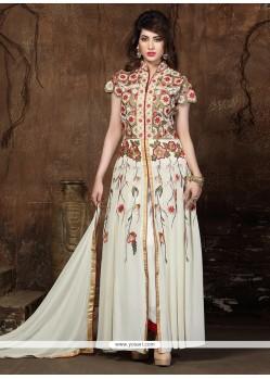 Cute Embroidered Work Georgette Designer Salwar Kameez