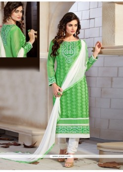 Wonderous Chanderi Churidar Designer Suit