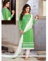 Wonderous Chanderi Churidar Designer Suit