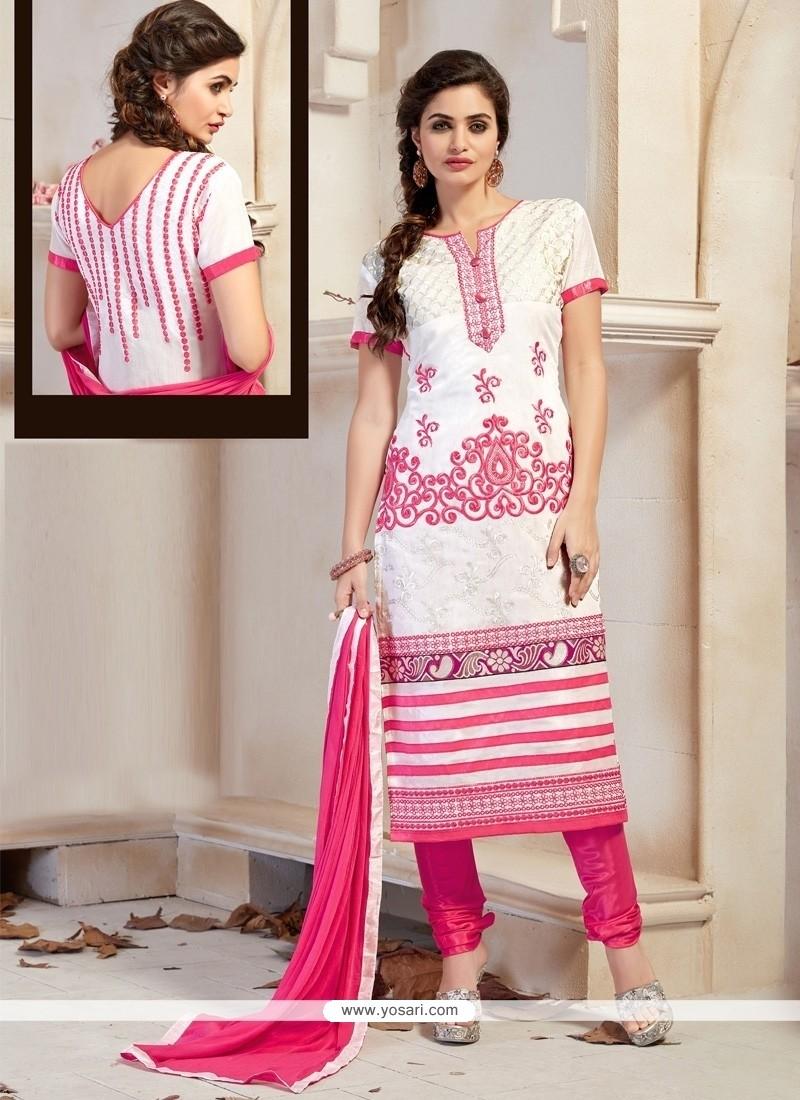Genius Off White Churidar Designer Suit