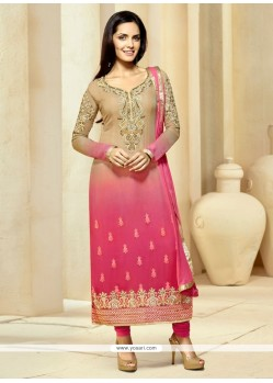 Enchanting Pink Churidar Designer Suit