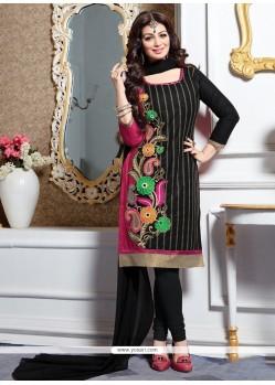 Ayesha Takia Black Churidar Designer Suit