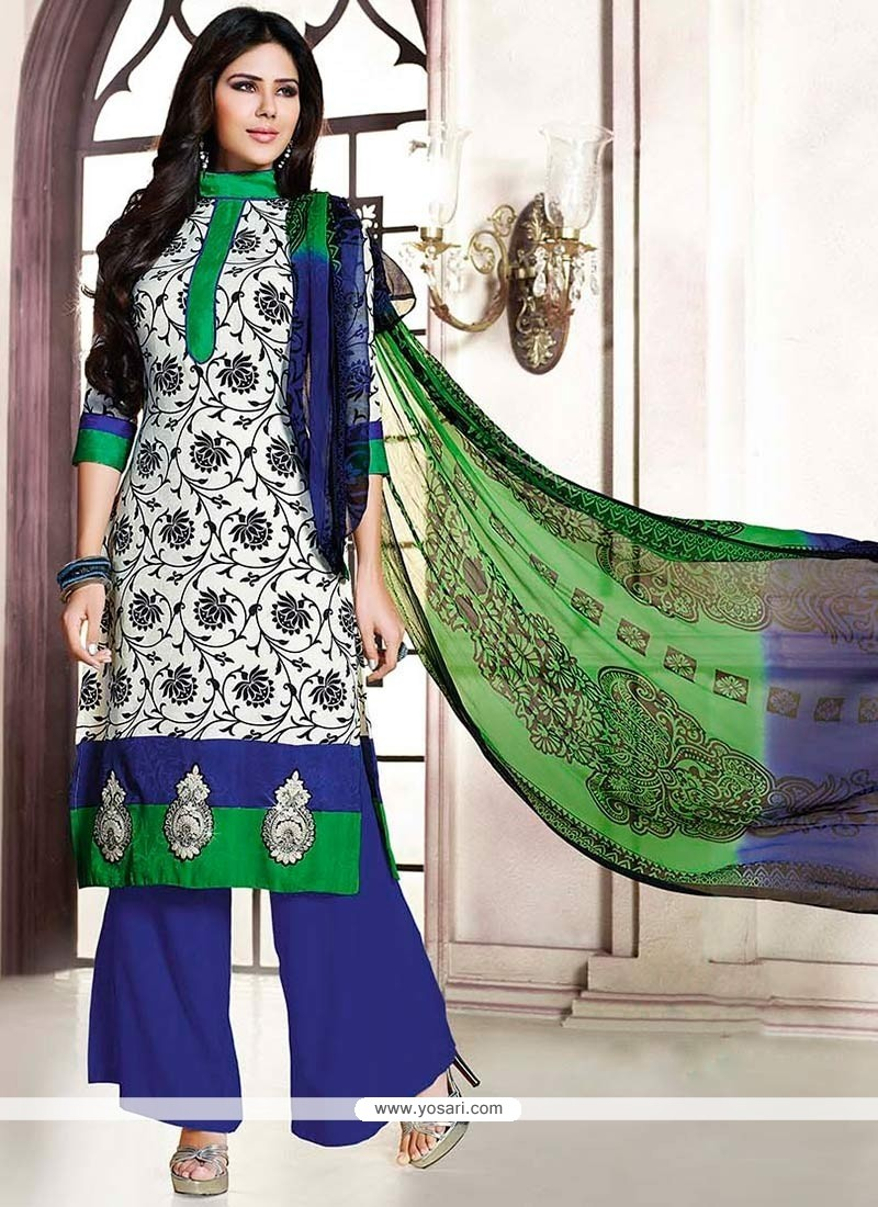 Off White Pashmina Pakistani Suit