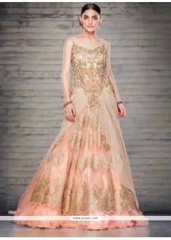Thrilling Net Floor Length Gown