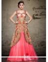 Flamboyant Net Floor Length Gown