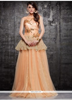 Stupendous Net Floor Length Gown