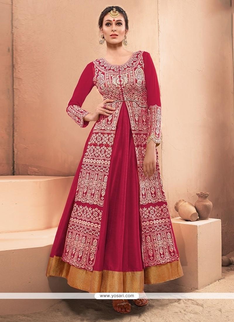 Observable Silk Resham Work Designer Gown