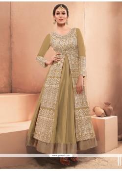 Voluptuous Embroidered Work Designer Gown