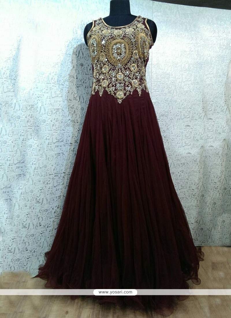 Swanky Embroidered Work Designer Gown