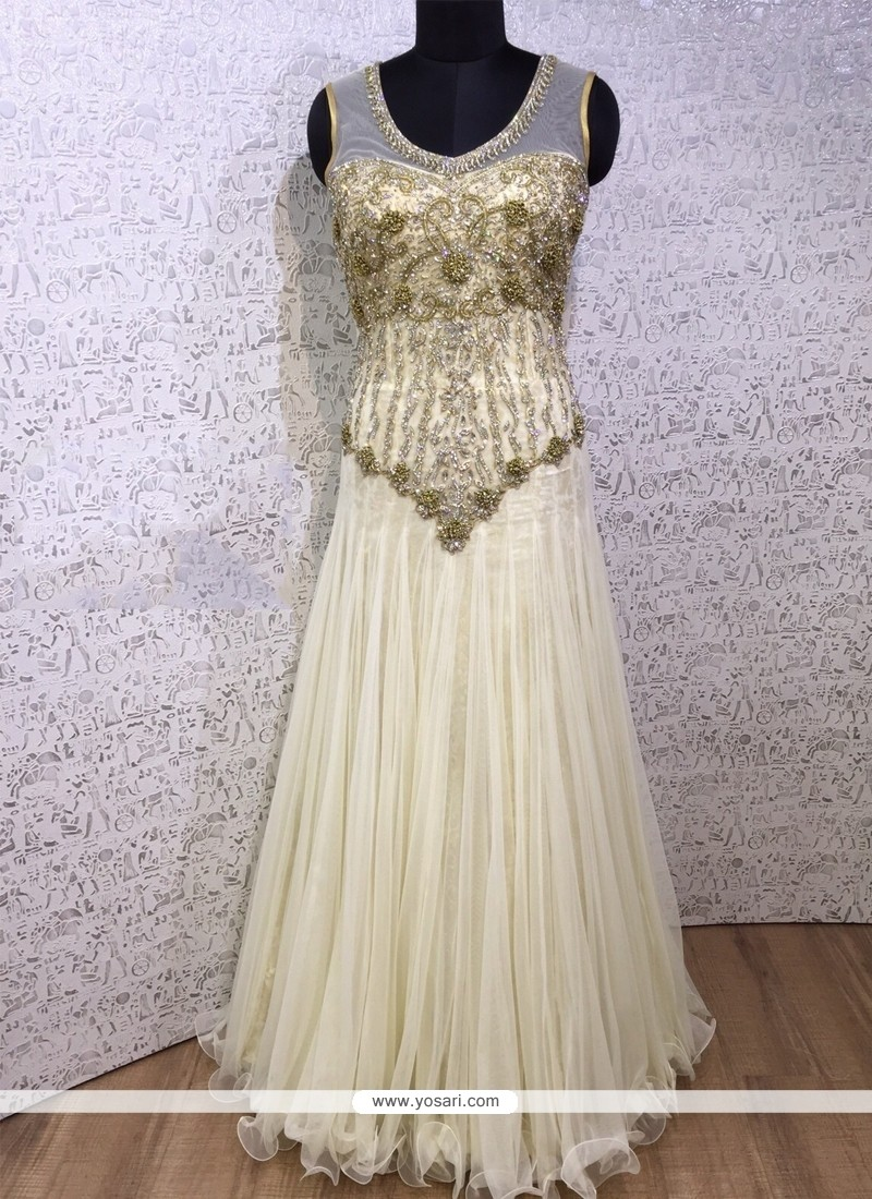 Stupendous Net Embroidered Work Designer Gown